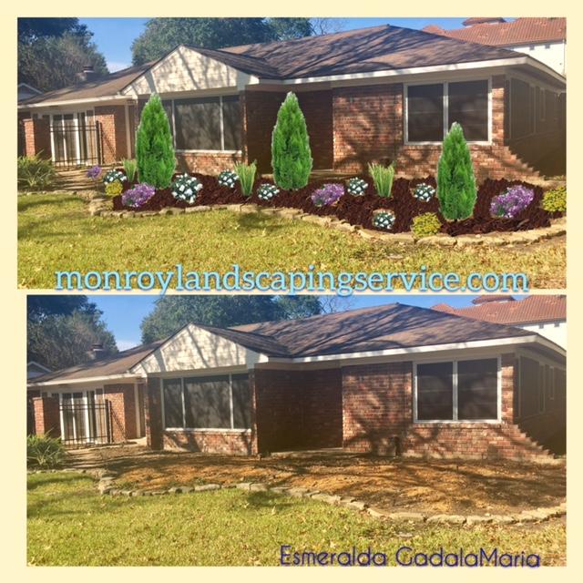 Bricks Design mulch Garden design