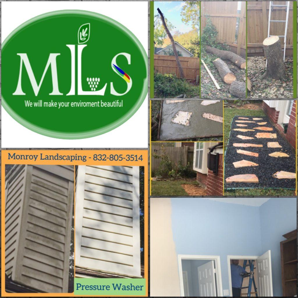 Paver, pressure washer, pathway, tree service, stump grinder, interior paint